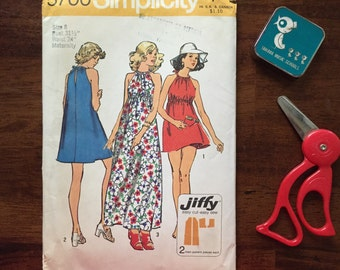Vintage sewing pattern uncut Sumplicity pattern 5700 size 8 bust 31.5 waist 24 fashion from 1973