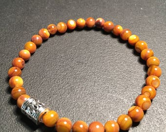 Men's Amber Shell Bracelet