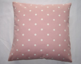 Dotty pink polka dot cushion cover 40cm x40cm.