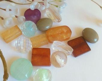 set of 15 plastic bead