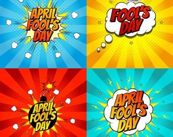 April Fool's Day clip arts / illustrations