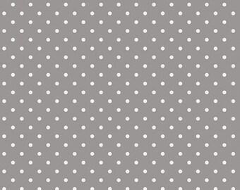 Grey White Dots fabric, Petit Dots Ash, Les PetitesCollection, Art Gallery Fabrics, Amy Sinibaldi, Nursery fabric, Fabric by the Yard,