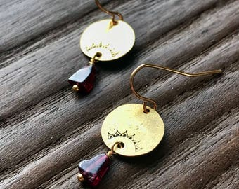 Garnet Zen Earrings