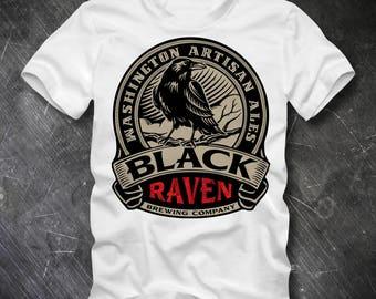 BLACK RAVEN BEER T Shirt Washington Artisan Ales Micro Brewery Ipa India Pale Ale Craft Beer Shirt Beer Tee