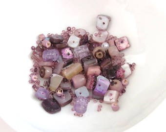 wholesale lot of predominantly square beads