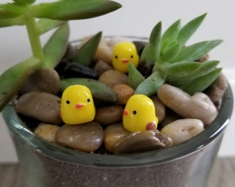 Three Adorable Chick Decorations