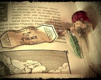 Heart wand - Phoenix feather