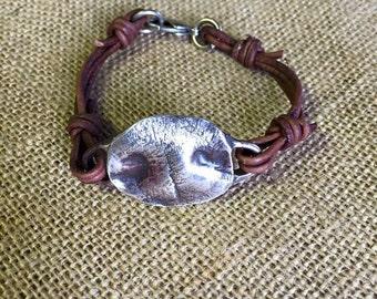 Custom dog nose leather bracelet
