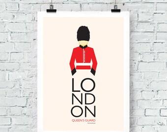 London travel print Queen's Guard Print Wall Art poster