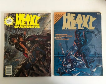 Vintage Heavy Metal Comics 1977 and 1995