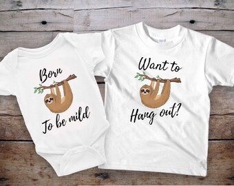 Sloth baby, baby onesie funny, sloth shirt, sloth gift, baby bodysuits with saying, kids t shirts sayings, sibling outfits, kids shirt funny