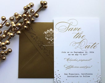 Gold Save the Date