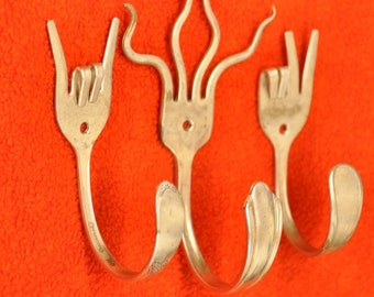 Rock On x Funky X Peace Special Collector set 3 Silverware Coat Hooks