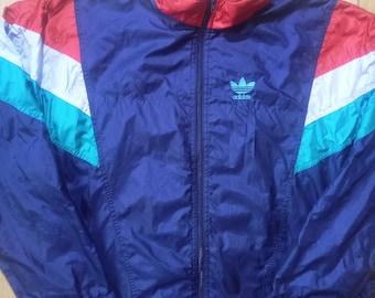 Adidas Originals 90's Vintage Mens Tracksuit Top Jacket Nylon