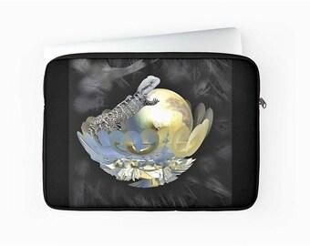 "Lizard Laptop Sleeve, Zipped Laptop Cover, Fractal Laptop Sleeve, Macbook Air / Pro / Retina 12"", 13"" & 15"" Laptop Sleeve, Padded Laptop Bag"