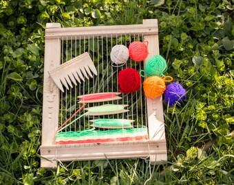 Weaving Loom, Lap Loom, Wooden Loom, Weaving Tools, small loom, Weaving Loom Kit, Ultimate DIY Wood Weaving Loom Kit, Hobby gift