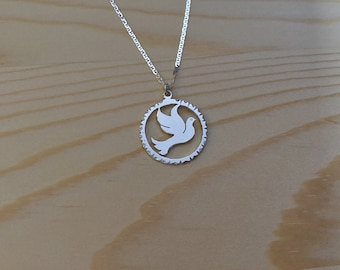 STERLING  SILVER DOVE   Necklace  on a 20inch   Sterling Silver chain