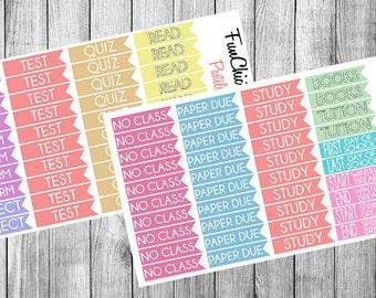 80 School Flag Planner Sticker Set