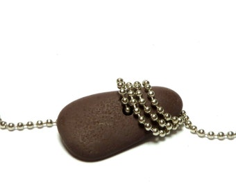 TOGGLE Long Beach Stone Rock Pebble Jewelry Bead Organic Drilled Triangle Component Earthy Artisan Connector