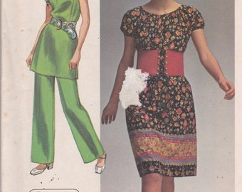 Simplicity 9308 Vintage Pattern Womens Dress, Tunic Top and Pants Size 10 UNCUT