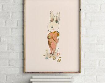 Woodland poster, Woodland nursery decor, baby shower girl, Woodland nursery wall art, Woodland animal nursery, girl nursery decor