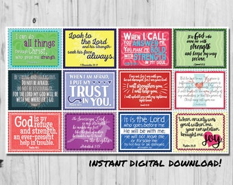 Affirmation Cards - Bible Verse Cards - Anxiety Affirmation Cards - Labor and Delivery Pregnancy Gift Digital Download DIY Printable Cards