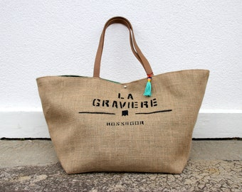 "Big bag ""gravel"" almond Green"