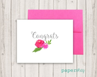Personalized Stationery, Personalized stationary, Congrats, Monogram stationery, Monogram Note Cards, Personalized Notecard, Fold Over Cards
