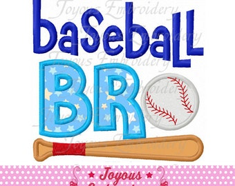Instant Download Baseball brother Applique Machine Embroidery Design NO:2459