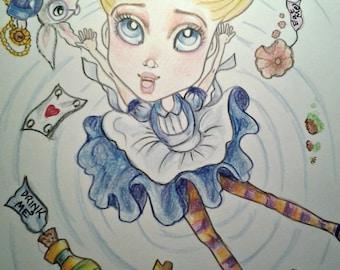 Alice In Wonderland Adventures Mini Collection #1 BigEye Fantasy Fairytale 4 x 6 Prints
