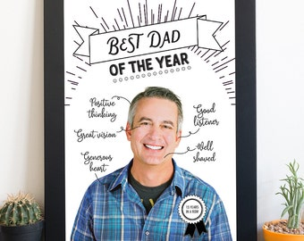 Best dad of the year - Personalized art work for your dad