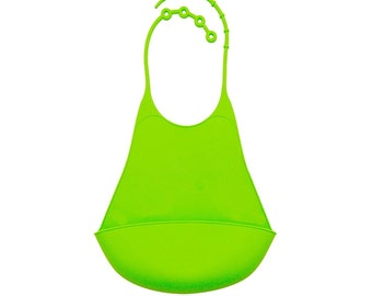 Silicone Baby bib - Adjustable Neck-String