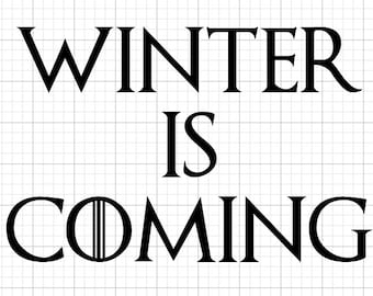 Game of Thrones WINTER IS COMING Decal