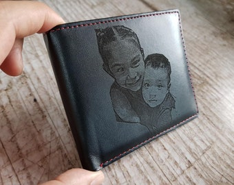 photo wallet, photo wallet mens, picture engraved mens wallet, personalized mens wallet, mens wallet personalized, fathers day wallet