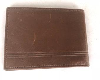 Viintage Pierre cardin Brown Leather Wallet men's