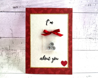I'm Nuts About You Valentine Love Dating Card