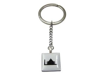 Square Taj Mahal Pendant Keychain