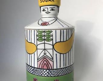 Sugar Canister | Ceramic Sugar Jar | Le Gourmet by Arnart | Lady Sugar Jar | Sugar Container