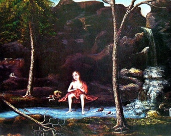 American Paintings - By the Cool and Shady Rill, Reception of General Louis - 1961 Vintage Book Page 9.25 x 11.5
