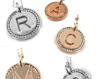 Necklace Initial Pendant