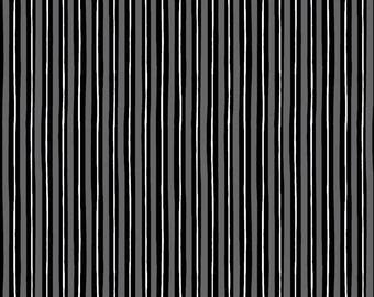 1 yard Maywood Studios Kimberbell Basics, Gray black little stripe, stripe cotton fabric