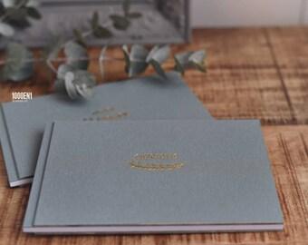 Wedding Vow Books linen, personalized with letterpress - wedding - geloften