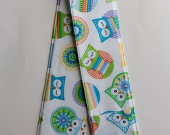 Camera Strap Cover- lens cap pocket and padding included- Owls