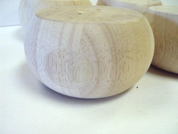 VENTA Círculo muebles de madera Bun pies juego de 4