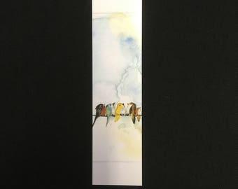 Little birds bookmark