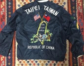 60s Sukajan Nylon Tour Jacket - small