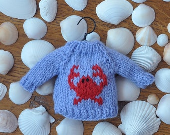 Crab Hand-Knit Sweater Ornament