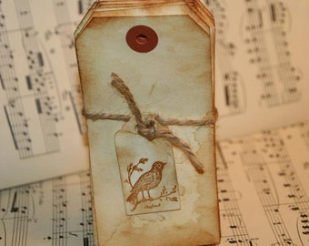 Wedding Escort Cards  DIY  Wedding Place Cards  Primitive Rustic  Antiqued Blank Tags 50 Pack