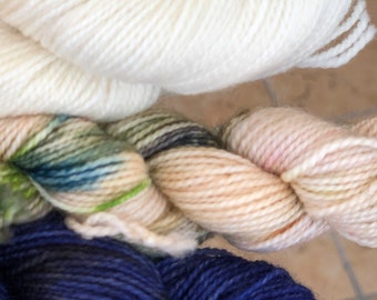 Hand dyed yarn,Mitten/Fingerless Mitt Kit #12,Indie Dyed Yarn,gift for yarn lovers,50 gram Mini Skeins,Mitten/Mitt kit-pattern not included
