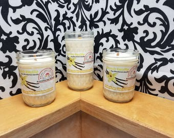 French Vanilla - 100% Soy Wood Wick Candles in variety of sizes!